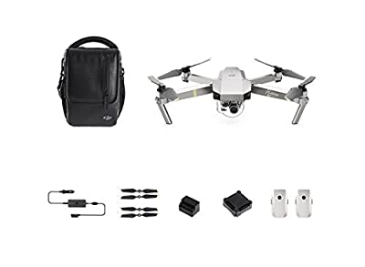 DJI - Mavic Pro Combo Platinum - Portable Drone | 3-Axis Gimbal & 4K Camera | Enhanced Endurance | High-end Flight Performance | HD Photos & Videos | Incl. 3 Intelligent Flight Batteries - Plug EU