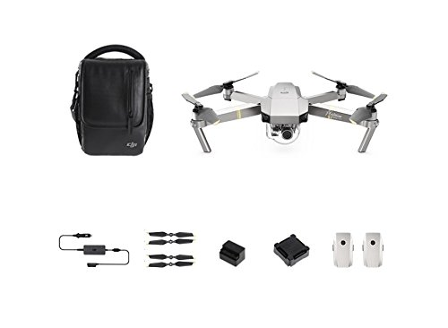 DJI - Mavic Pro Combo Platinum - Quadcopter Drone with Camera
