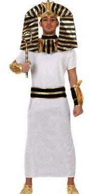 Atosa 10124 - Costume da faraone egizio Uomo, taglia: 50-52