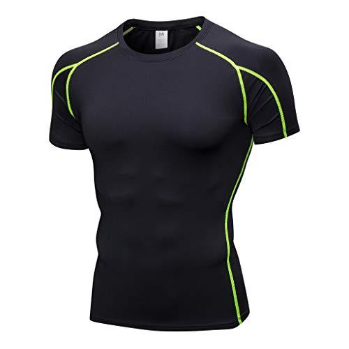 Preisvergleich Produktbild T-Shirt Herren Athletisch Slim Fit Shirt Kurzarm Sommer Workout Leggings Fitness Sport Tees Pullover Laufoberteile Regular Fit T-Shirt Bluse