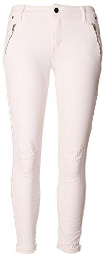 BASIC.de, Pantaloni aderenti, modello Biker Weiss Zippertaschen