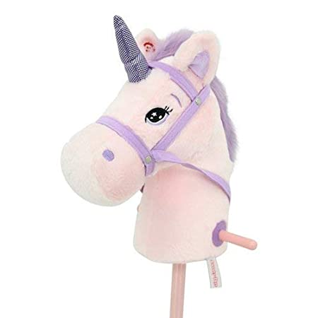 Sweety Toys 10547 Einhorn Steckenpferd Pink Rosa mit Funktion Gewieher und Galoppgeräusch