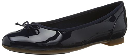 Clarks Couture Bloom, Ballerines Femme, Bleu (Navy Patent), 37.5 EU