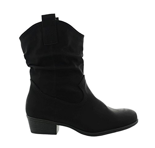 King Of Shoes - Botas de Material Sintético para Mujer -, Color Negro, Talla 36