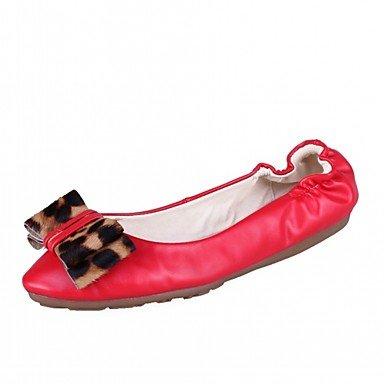 Wuyulunbi@ Scarpe Donna Primavera Autunno Comfort Novità luce Appartamenti suole piatte rotonde Bowknot di punta per abbigliamento casual Beige rosso US8 / EU39 / UK6 / CN39