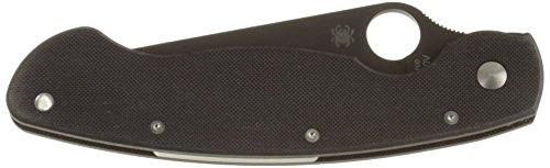 Spyderco, Coltello pieghevole Military Model Black Blade, Nero (schwarz)