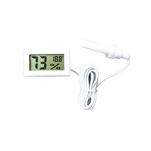 ZZM Termómetro Digital Higrómetro, Digital Embebido LCD Termómetro Temperatura Humedad Medidor Medidor...