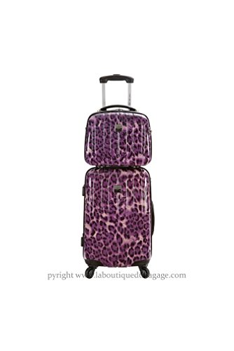 FRANCE BAG - FRANCE BAG Set Valise rigide et Vanity CANCUN Prune Panthère - 141626-2-PRP