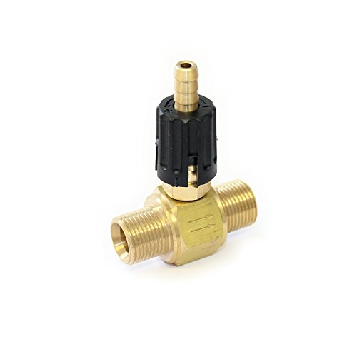 Adjustable Chemical Injector - low pressure soap detergent injector venture 3/8 BSP MALE MALE