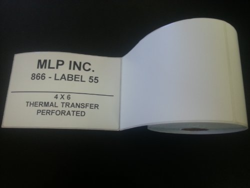 6 Rolls of 4x6 Direct Thermal Shipping Address Labels used with ribbon less printers such as Zebra 2844 or Eltron 2844 (250 labels per roll) by Labels and More