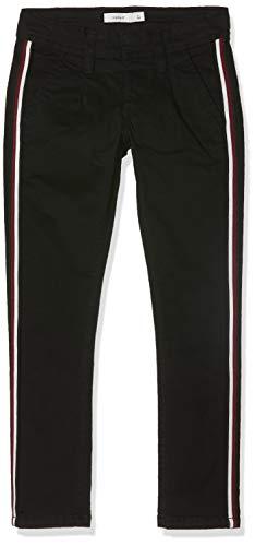 NAME IT Jungen NKMROBIN TWIBRIAN Cropped Chino BL Hose, Schwarz (Black Black), (Herstellergröße: 134)