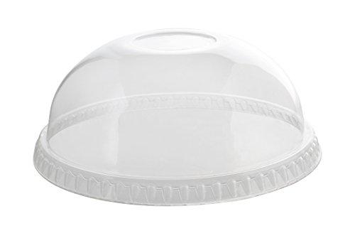Fineline Super Sips 3198DL 98mm PET Dome Lid No-Hole, Clear -