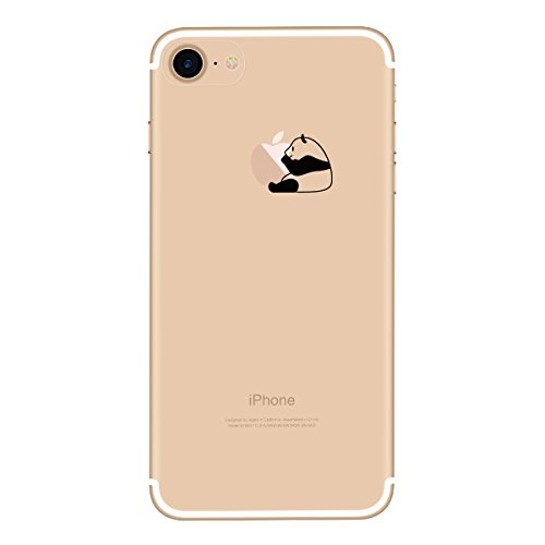 Yokata iPhone 7 Plus Hülle Transparent Weiche Silikon Handyhülle Schutzhülle TPU Handy Tasche Schale Etui Weich Silicone Bumper Ultra Dünn Slim Schlank Durchsichtig Handytasche Premium Kratzfest Soft  Richtigen Panda