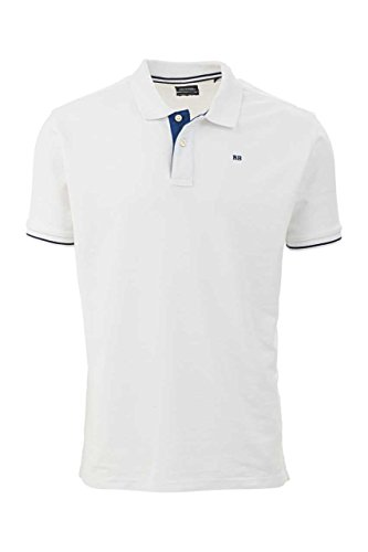 Boston Brothers Herren Shirt Poloshirt Weiß