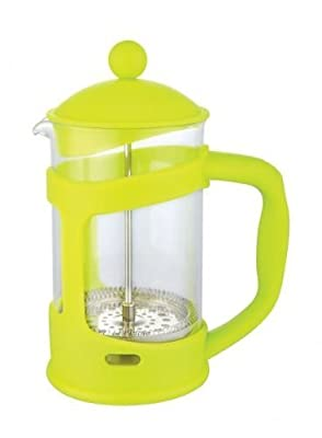 Lime Green - 6 Cup Glass Coffee Maker Plunger French Press Cafetiere Pot Jug by Zodiac