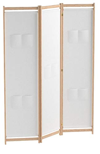 vidaXL Raumteiler 3-TLG. Kiefer 120x170cm Trennwand Paravent Spanische Wand