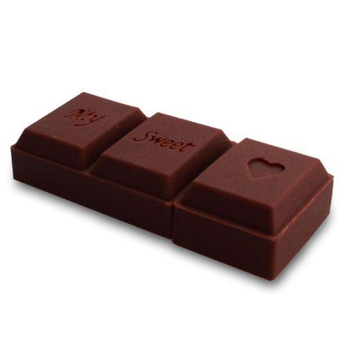 Lsv-8 2.0 USB-Stick 16GB Schokoladen Riegel Liebe 3D braun