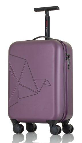 Pack Easy Valise, Futuro Metallic Cabin-trolley Mit 4 Rollen Aus Polycarbonat 58 Cm 35 Ltr. 9908bo, violet - violet