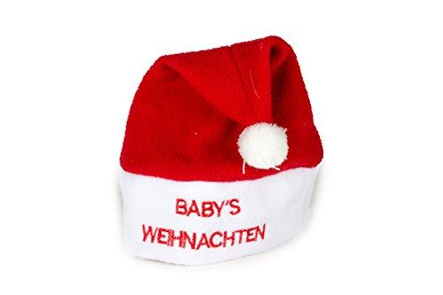 tze Nikolausmütze Mütze Weihnachten Nikolausmütze Santa Christmas Nikolaus Weihnachtsmütze Baby Rot ()