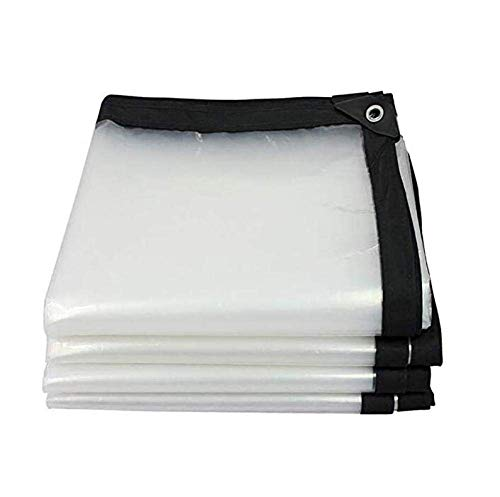 KYCD Abdeckplane, strapazierfähig, wasserdicht, transparent, staubdicht, Kunststoff, für Carport Bodenplane, UV-beständig, 2 x 2 m, 9.9x33ft/3x10m