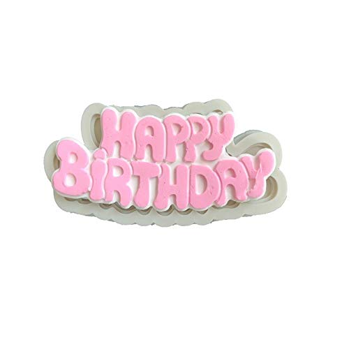 rthday Silicone Mold Fondant Cake Mold Chocolate Candy Mold Soft Clay Tool,1 ()