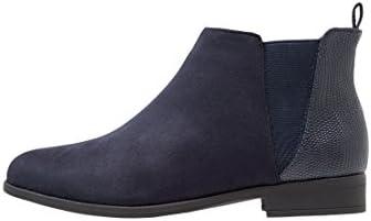 Anna Field Chelsea Boots Mujer en negro o azul–Ankle Boots en el material de Mix–Caña corta con–Botines Jodhpur de deportivo de elegante