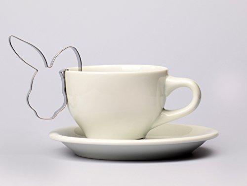 Hasengesicht Tassenks 7 cm Ostern Ausstecher, Ausstechform aus Edelstahl
