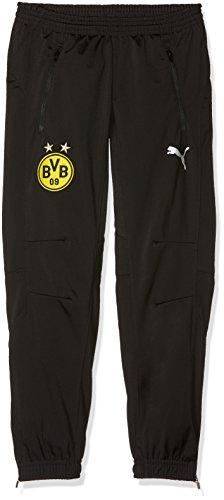 PUMA Kinder BVB Poly Pants Jr 2 Side Pockets Zip with elastica Hose, Black, 152 - Zwei Pocket-hose