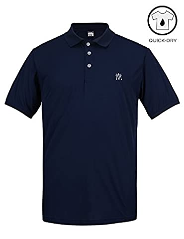 Men's Golf Polo Shirts Wicking Quick Dry Fit Technical Performance Lightweight Size XL Navy blue