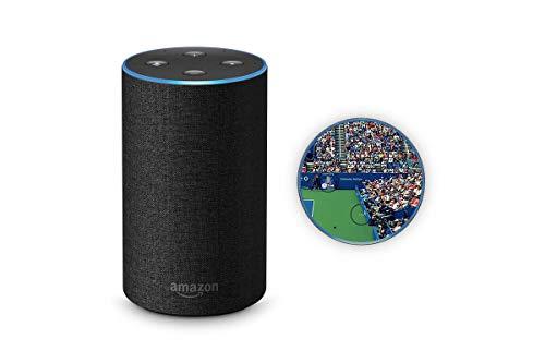 Skins4u Aufkleber Design Schutzfolie Sticker kompatibel mit Amazon Echo 2.Generation Center Court