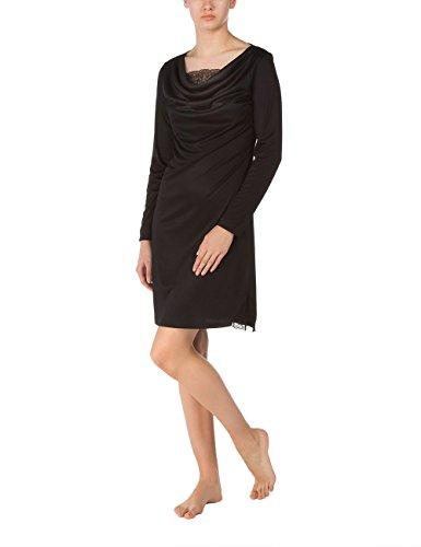 CALIDA Big Shirt Amia, Chemise de Nuit Femme Noir - Noir (Noir 992)