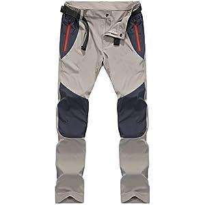 31KbSQwZgnL. SS300  - TACVASEN Men's Lightweight Sport Walking Trousers Outdoor Hiking Pants with Zipper Pockets