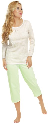 Italian Fashion IF Pigiami Due Pezzi per Donna Dalia 0111 Verde