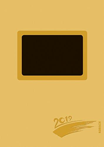 Foto-Malen-Basteln A4 gold gestanzt mit Folienprägung 2019: Kalender zum Selbstgestalten