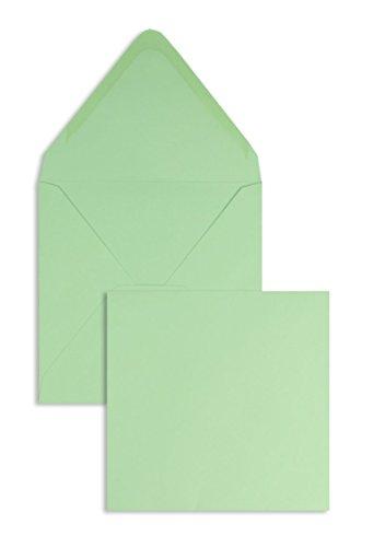 Farbige Briefhüllen | Premium | 120 x 120 mm Grün (100 Stück) Nassklebung | Briefhüllen, Kuverts, Couverts, Umschläge mit 2 Jahren Zufriedenheitsgarantie