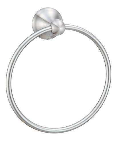Hardware House H10-9727 Newport Collection Towel Ring, Satin Nickel by Hardware House (English Manual) -