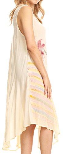 31KbXxWmgJL - Sakkas Valentina Summer Light Cover-up Caftan Dress con stampa tropicale