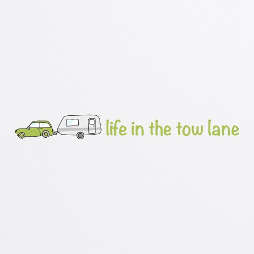 Life in the Tow Lane T-shirt, Uomo Bianco