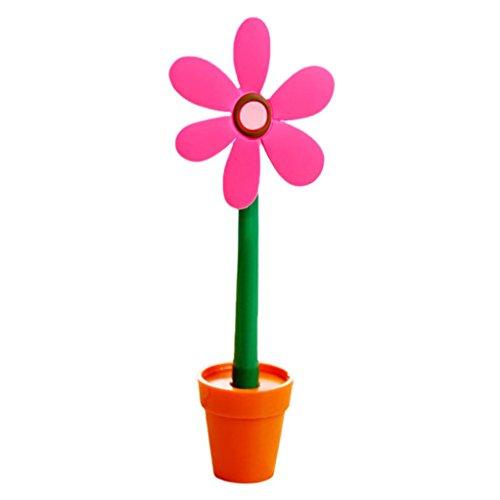 12shage Netter Kugelschreibersonnenblumen Stift Gel Student Büro Briefpapier Geschenk (Pink)