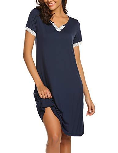 MAXMODA Chemise de Nuit Femme Pyjama Femme Robe de Nuit Sexy