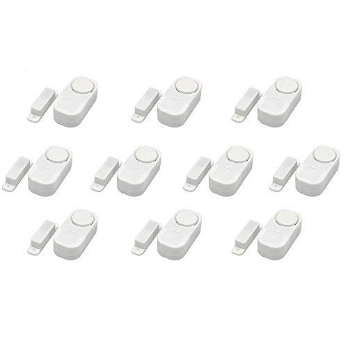 STW, 10 sensori magnetici senza fili per porte e finestre di casa, per sistema di allarme antifurto fai da te