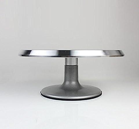 Xiuxiandianju 10 pouces à 360 degrés de rotation de gâteau stand de décoration de gâteau Turntable 31cm (acier inoxydable)