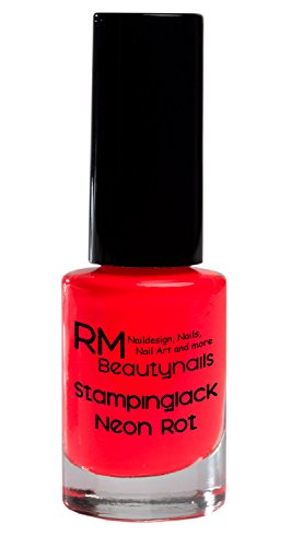 Stampinglack Neon Rot 4ml Stamping Lack Nagellack Nail Polish RM Beautynails