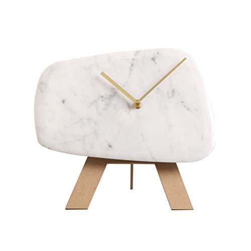 SMC Uhr Nordic Marble Creative Modern Silent Dekorative Tischuhr - Für Wohnzimmer Schlafzimmerstudie