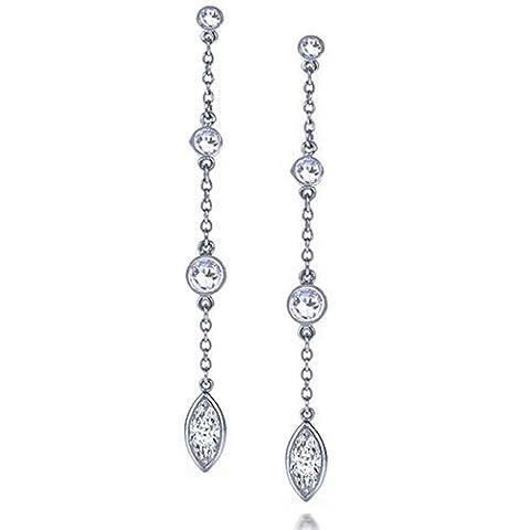 Bling Jewelry Swing Tropfen 925 Silber Zirkonia Ohrstecker