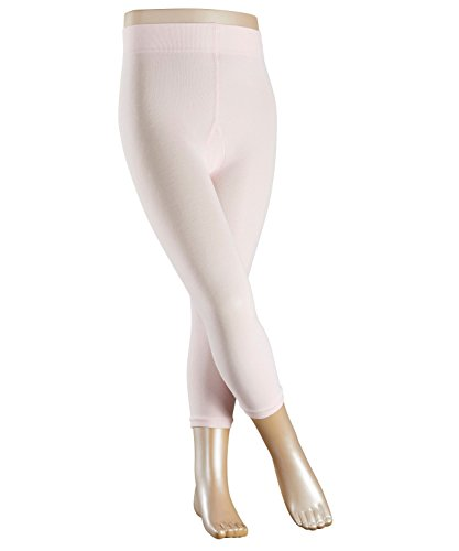 Rosa Blickdichte Strumpfhose (FALKE Mädchen Strumpfhosen / Leggings Cotton Touch - 1 Paar, Gr. 110-116, rosa,ohne Fuss, hautfreundlich, Baumwolle blickdicht)