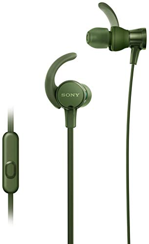 Sony Extra Bass MDR-XB510AS in-Ear Sports Headphones with Mic (Green)