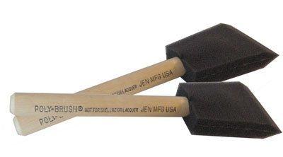 3 Inch Jen Manufacturing Orginial Poly-Brush? Foam Disposable Brush 36 per box by Jen Mfg., Inc. (Poly-tool-box)