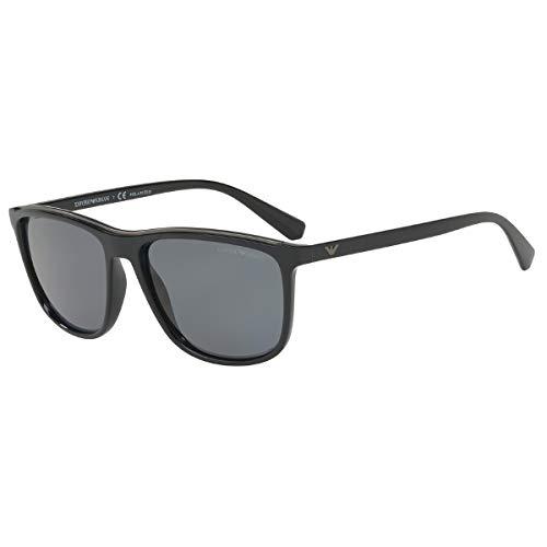 Emporio Armani Herren 0ea4109 501781 57 Sonnenbrille, Schwarz (Black),