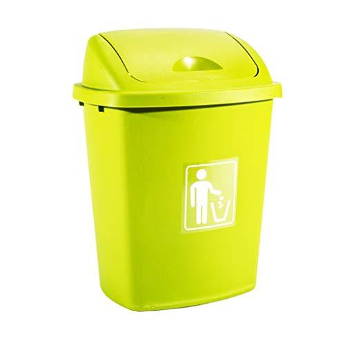 LINA Grande Poubelle en Plastique Peut -30L quadrichromie Industrielle épaississement Industriel Poubelle de ménage (Couleur : Green)